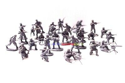New Caesar 1/72 US Infantry Army Men Figures (30pc Diff. Poses) WWII Toy Soldier