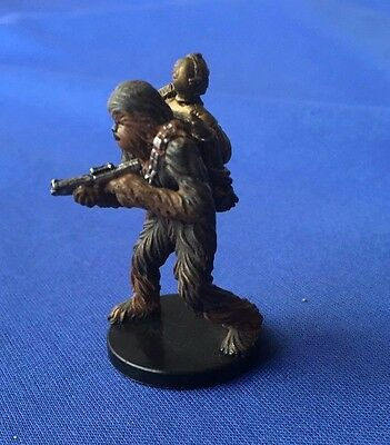 Star Wars Miniatures Bounty Hunters #6/60 Chewbacca with C-3PO - NC