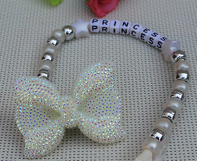 Personalised stunning baby dummy clip for reborn dolls ivory color