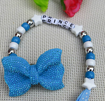 Personalised stunning baby dummy clip bay girls for reborn dolls