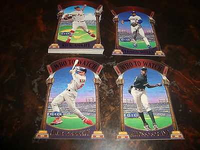 2000 Fleer Tradition Baseball---Who To Watch---Complete Set 1-15---NrMt