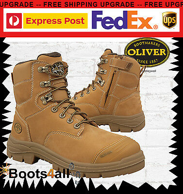 Oliver Ladies Work Safety Boots Wheat Steel Toe Lace Up ZIP AU/UK Size 55332Z