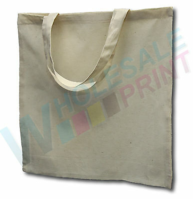 Unprinted SHORT handle calico bags totes cotton screen printing heat transfers