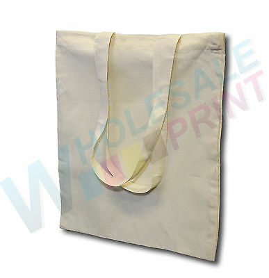 Unprinted LONG handle calico bags totes cotton screen printing heat transfers