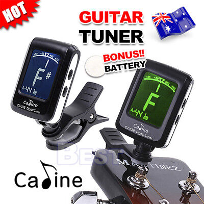 LCD Clip On Digital Tuner for Acoustic Electric Guitar Bass Chromatic Instrument