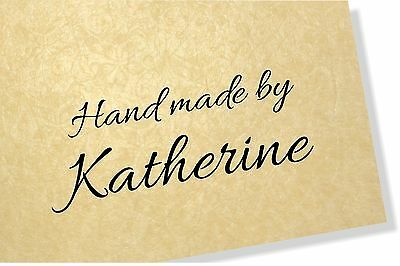 Personalised Clear Rubber  Craft Stamp 40mm x 20mm - No Image