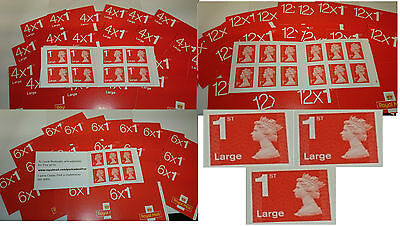 BRAND NEW  UK self stick Postage Stamps, 1st class & large letter, u choose.
