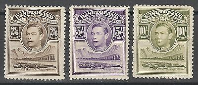 Basutoland 1938 Kgvi Crocodile 2/6 5/- And 10/-