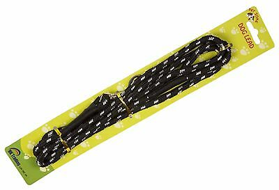 Nylon Slip Rope Dog Pet Lead Soft Strong Working Training Black W/clip 1.8M 70""