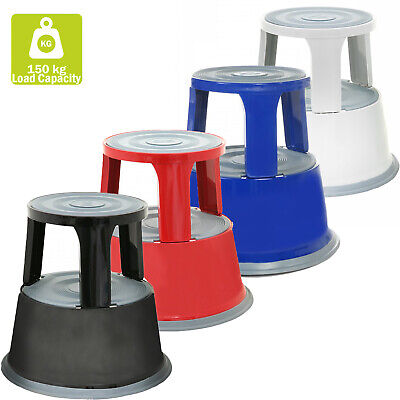 Brand New Heavy Duty Metal Supastep Kick Step Stool In Red,black,blue&white
