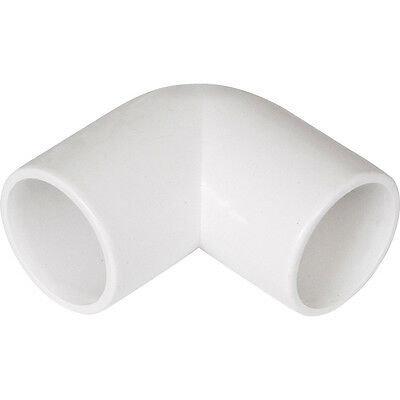 NEW Solvent Weld Overflow Bend 21.5mm 90° White Each