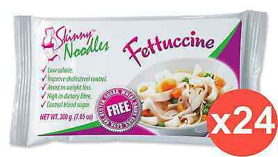 Case of 24 Skinny Noodles-Fettuccine 200g, Shirataki, Dukan,Atkins,Low Carb,Slim