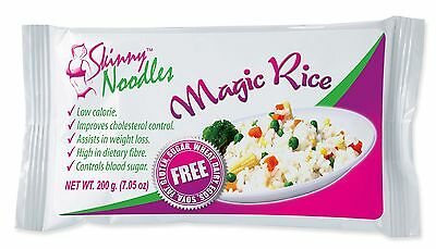 Skinny Noodles-Magic Rice 200g,Shirataki,Konjac,Slim, Dukan, Atkins,Gluten Free