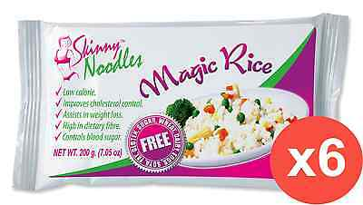 Case of 6 Skinny Noodles-Magic Rice 200g, Shirataki, Konjac,Slim, Dukan,Atkins