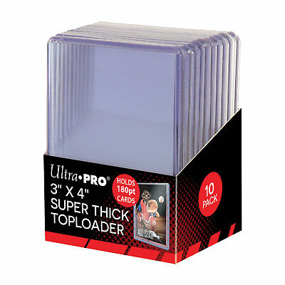 "Ultra Pro 3"" x 4"" 180pt Thick Top Loader Card Protectors - Packet of 10"