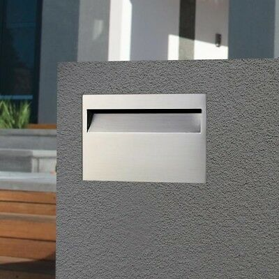 Milkcan BRICK IN 304 STAINLESS Letterbox BR02  Mailbox INCLUDES Key Lock, Sleeve