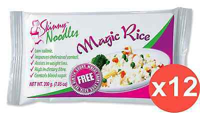 Case of 12 Skinny Noodles-Magic Rice 200g, Shirataki, Konjac,Slim, Dukan,Atkins