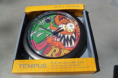 "RARE 1996 face NEW Ed ""BIG DADDY"" Roth's RAT FINK Clocks Mooneyes #2 OrangeRF"