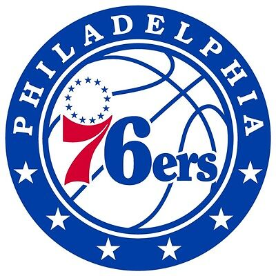 Philadelphia 76ers #3 NBA Team Logo Vinyl Decal Sticker Car Window Wall Cornhole