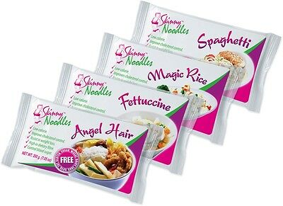 Case of 4 Skinny Noodles Mix, Shirataki, Konjac, Slim, Dukan, Atkins,Gluten Free