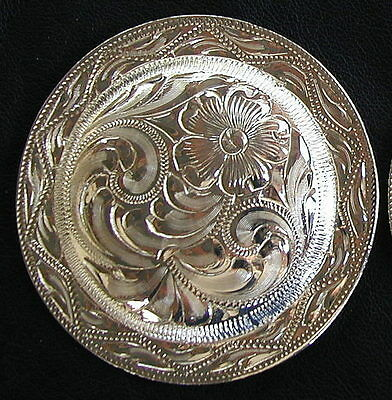 """2 1/2"""" (2.5"""") Silver Hand Engraved Western Concho                            #67"""