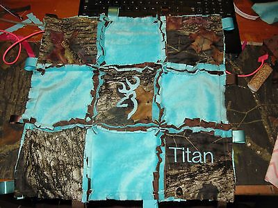 Mossy Oak Realtree Camo Rag Taggie Security Blanket Minky Personalized Lot Color