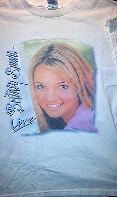 Rare Britney Spears Live Tour 2000 First International Tour T Shirt Adult Size L