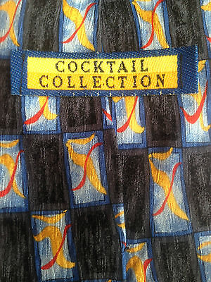 Cocktail Collection Men Neck Tie Silk Martini As Seen Under The Microscope Excon