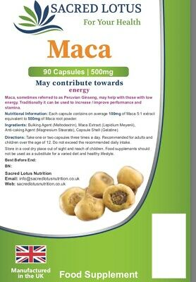 Maca Root (500mg) Super Food, sexual health,libido 100 tablets(MADE IN UK)