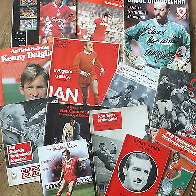 Liverpool Players Testimonial Programmes *Choose from list*