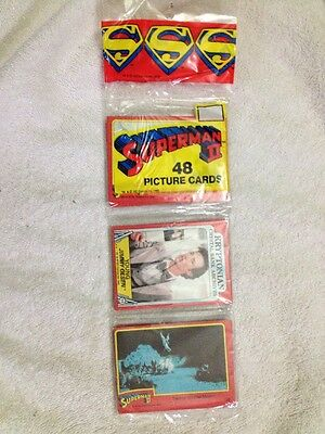 1 Sealed Superman 2 Topps 1981 Pack W/ 48 Cards