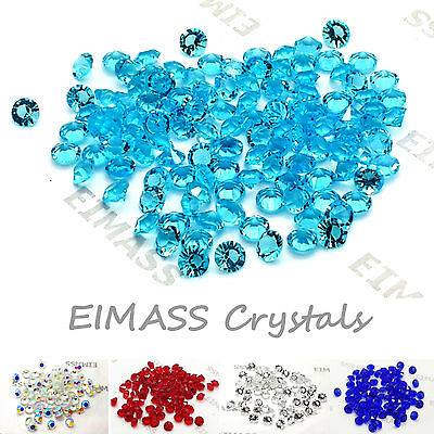 100 x Table Scatter Crystals, EIMASS® 3787 Wedding Party Glass Diamonds, Decor