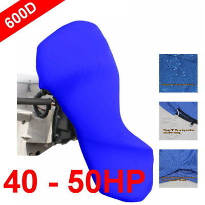 40-50hp Full Outboard Boat Motor Engine Cover Dust Rain Protection Blue