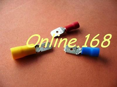 Crimp Terminals Electrical Wire Connectors Male Spade mixed Red Blue Yellow 30pc