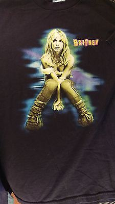 Rare Britney Spears Concert T Shirt The Britney Tour 2001 M