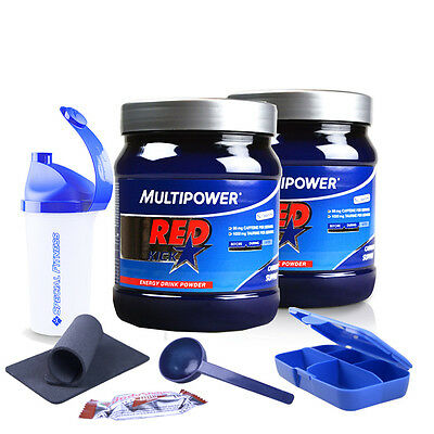 MULTIPOWER | 2 x Red Kick Coffein + Guarana a 500g,  2 DOSEN!!