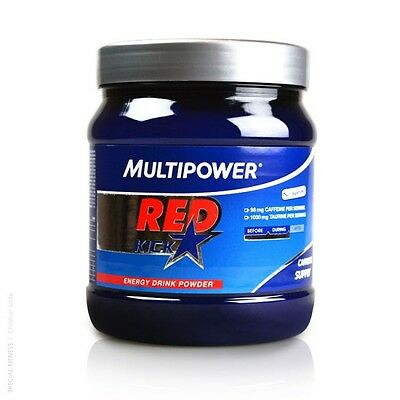 31,60€/kg Multipower RED KICK Coffein + Guarana Energy Pulver (500g Dose)
