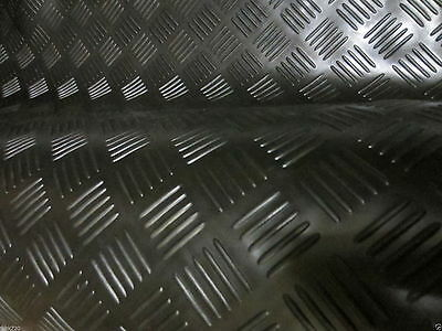 RUBBER FLOOR MATTING 4 Bar Checker  STYLE ANTI SLIP 1.5m WIDE x 3mm COMMERCIAL