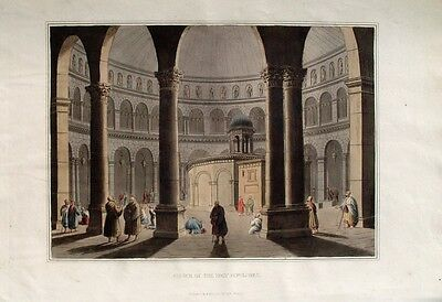 Luigi Mayer Holy Land Jerusalem Grabeskirche Church of the Holy Sepulchre Israel