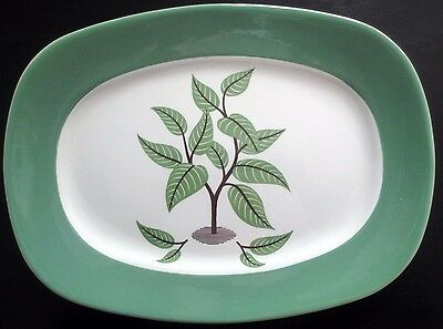"Taylor Smith Taylor Coffee Tree Serving Platter Walter Teague 11"" Excellent"