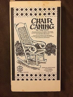 VHS, Chair Caning the 7 step method weaving Hickman Interlace Productions