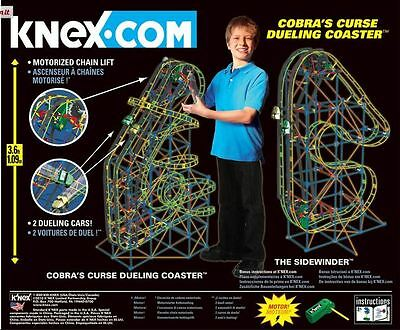 K'nex Cobra's Curse Dueling Roller Coaster Building Set, 2010, 9+, Boys & Girls