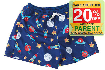 Boys Rocket/Space Floaties Nappy Shorts for Baby 6-12m for Swimming Pool/Beach