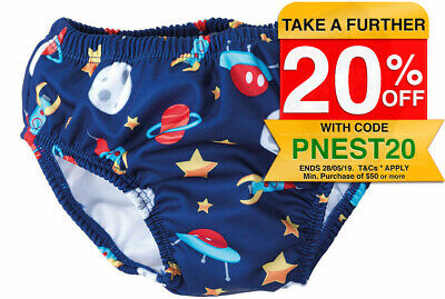 Boys Rocket/Space Swim Nappy for Baby/Child 3-6m for Swimming Lessons/Pool/Beach