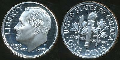 United States, 1999-S Dime, Roosevelt (Silver) - Proof