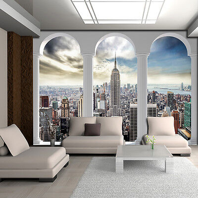fototapete tapete poster bilder tapeten wandbild new york skyliner 3fx2345p4 eur 29 90. Black Bedroom Furniture Sets. Home Design Ideas