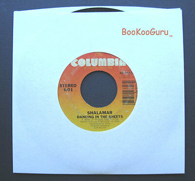 Columbia Records, Shalamar, Dancing in the Sheets, 1984, Stereo, Jukebox, 45 RPM