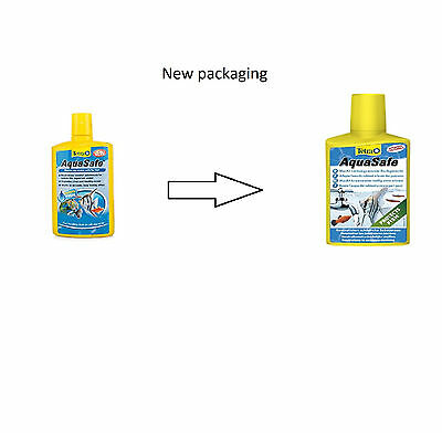 Tetra AquaSafe 250ml - Tap Water Conditioner For Aquariums, Makes Tap Water Safe