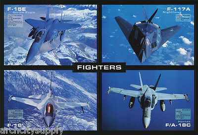 Poster : Jet Fighters - Collage - Free Shipping !     Lp39 N