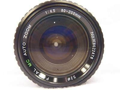 Focal MC Auto Zoom f/4.5 80-200mm Camera Lens for Pentax JAPAN